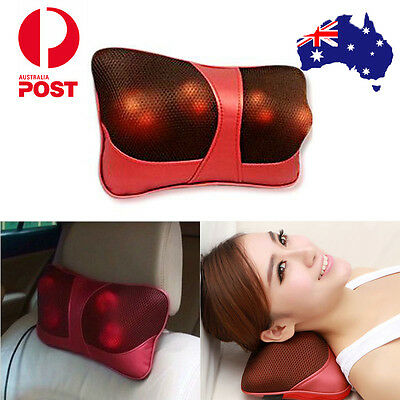 AU Massager Body Massage Pillow Cushion Neck Knead Back Home Car Fathers Gift