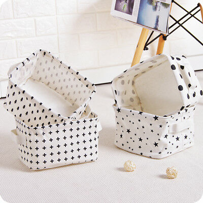 1Pc Creative Cotton Linen  Storage Basket  Underwear Cosmetic Jewelry Container