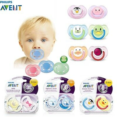 1 Pcs / 2Pcs PHILIPS AVENT Orthodontic Baby Pacifier Soothers Boys Girls Dummy