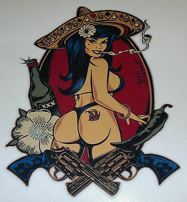 Aufkleber / Sticker Chicka - Pin up  -  Oldschool/Retro/Hot Rod/Rockabilly
