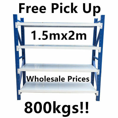 NEW 1.5Mx2Mx0.5M! Garage Warehouse Steel Storage Shelving Shelf Shelves Racking