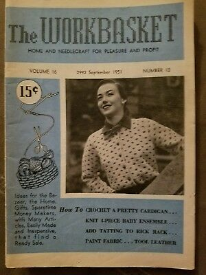 September 1951 The Workbasket Magazine Home & Needlecraft For Pleasure & Profit