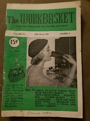 March 1951 The Workbasket Magazine Home & Needlecraft For Pleasure & Profit