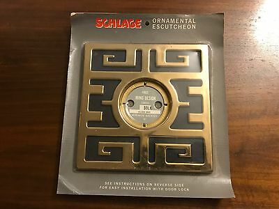 Vintage Schlage  Ming Design Ornamental Escutcheon - Black # 803