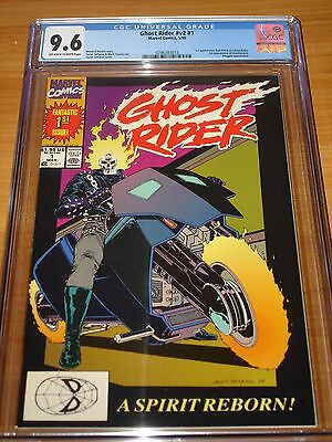 GHOST RIDER #1 (V2) - CGC 9.6 NM+ (1st Appearance of Dan Ketch ; OW / W Pages)