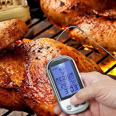 Digital Wireless Barbecue BBQ Meat Thermometer Remote Grill Cooking Probe HOT MT