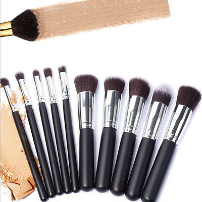 10Pc Jessup Makeup Brush Set Cosmetic Foundation Blending Pencil Brush Kabuki Ac