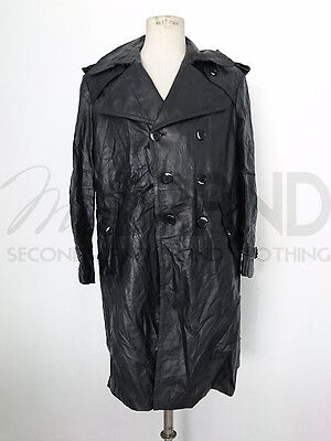 Cappotto Trench Vintage Uomo In Vera Pelle Art.5725