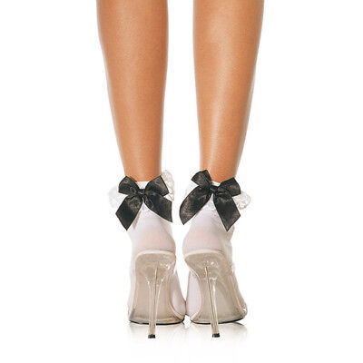 Leg Avenue Ruffle With Satin Bows Anklet UK 8 to 14