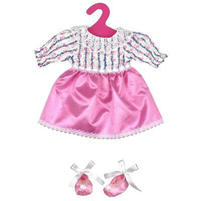 Set of 2 Fashion Clothes Pink Lace Party Dress for 18inch American Girl Doll