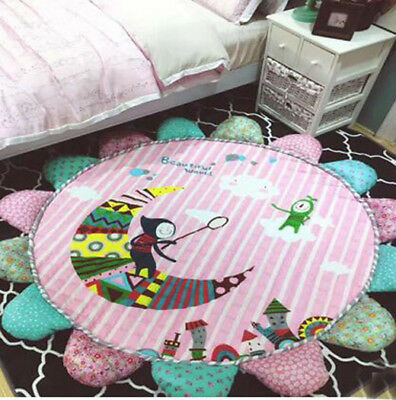 Sunflower 17 Style Soft  Round Baby Kids Play Mat Cartoon Rug Crawling Blanket
