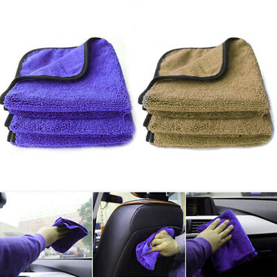 Fiber Wax Polishing Drying Ultra Thick Plush Washing Towel For Car Auto