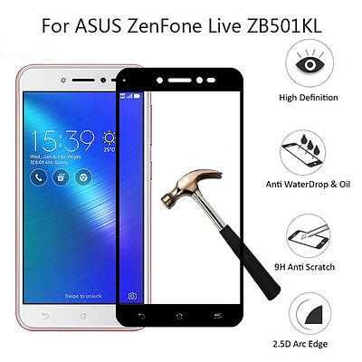 9H Full Coverage Tempered Glass Film Cover Case For ASUS ZenFone Live ZB501KL