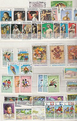 Asiensammlung Teil 5 - Malediven asia collection Malediven- 132 stamps