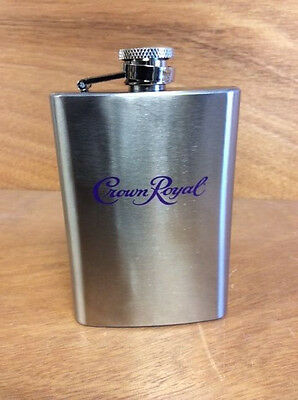 """Crown Royal Pocket Flask Stainless Steel 4 oz. NEW in Box & Free Shipping  4.5"""""""