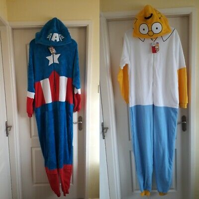 Bnwt Primark Mens Pyjamas - Sleepsuit - Costume - All In One Assorted Designs