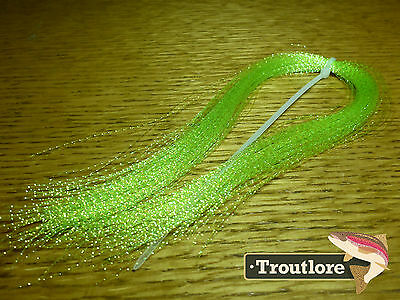 Mylar Crystal Flash Hank - Chartreuse - New Fly Tying Materials