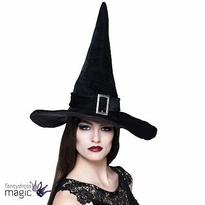 Halloween Ladies Womens Adult Wicked Witch Hat Fancy Dress Costume Accessory