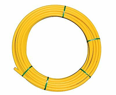 25mm MDPE YELLOW POLY PE GAS PIPE SDR11 50M COIL FAST DELIVERY!
