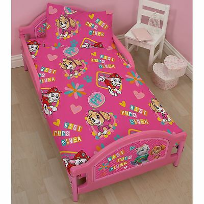 Paw Patrol Forever Junior Toddler Bed Pink Protective Side Panels 18 Months +