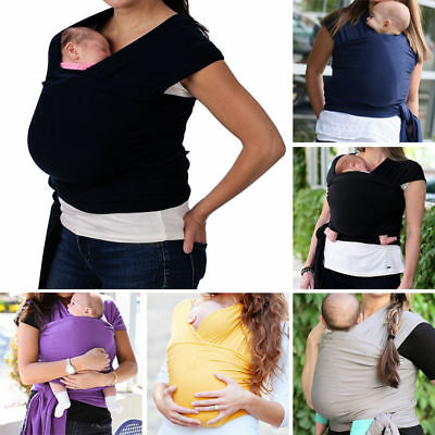 Breathable Cotton Sling Natural Wrap Carrier Baby Backpack for 0-3T Infant Baby