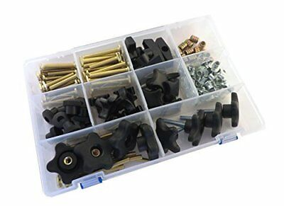 129 Piece Jig Fixture T Track Hardware Kit 5/16 18 Threads with Knobs, T