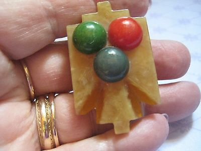 Vintage 20s 30s ART DECO Celluloid Apple Juice Thunderbird Color with Dots
