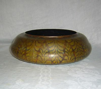 Antique Aesthetic Movement Tiffany & Co. New York Bronze & Gilt Fern Pillow Bowl