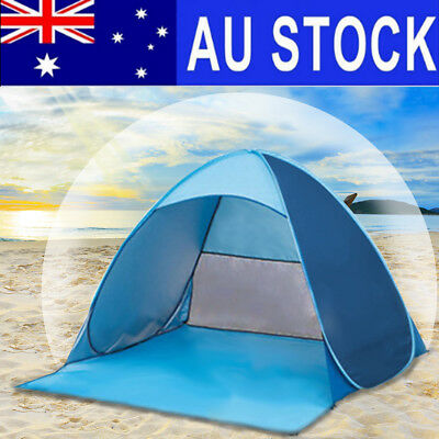 AU 2-3 Person Anti-UV Pop Up Sun Shade Shelter Outdoor Camping Hiking Beach Tent