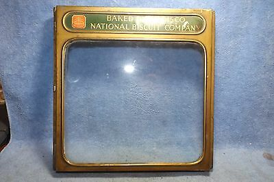 Vintage National Biscuit Company Box Top Cover, hinged 10 1/2 x 10 1/2 sq. top