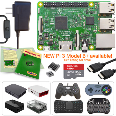 Raspberry Pi 3 Model B - Create Your Own Kit for KODI, RetroPie and More!