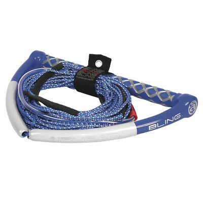 AIRHEAD Bling Spectra Wakeboard Rope 75' 5-Section Blue AHWR-13BL