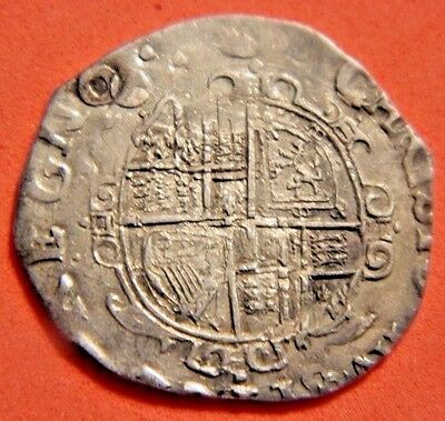 High Grade ,charles 1St Tower Mint Silver Sixpence Mm Tun ,1636-1638
