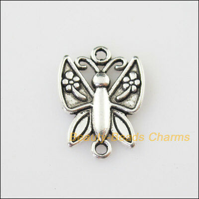 6 New Animal Butterfly Connector Tibetan Silver Tone Charms Pendants 16.5x22.5mm