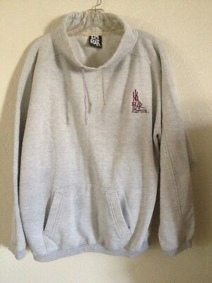 VINTAGE 90s NO FEAR Mockneck Embroidered sweatshirt made in USA adult XL