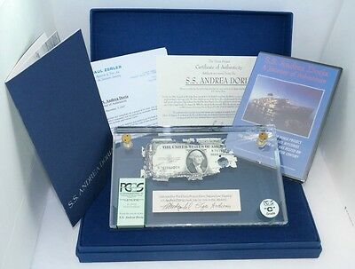 History's Only Shipwreck Currency! (1) Us $1 Silver Certif. From Ss Andrea Doria
