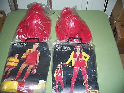 Lot of 2 Shirley of Hollywood Men L/XL Women M/L Halloween Fireman Costume