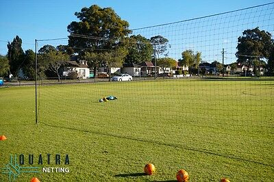 Backyard Ball Barrier Nets with Support Posts - 5m x 3m / 40mm sq