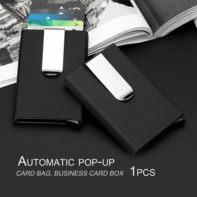 Anti-static ID Credit Card Holder Case Anti-magnetic Card Box With Money Clip GT