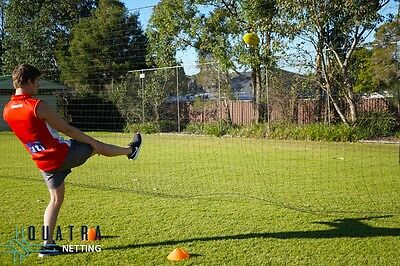 Football Ball Stop Barrier Nets with Support Posts - 10m x 3m / 40mm sq