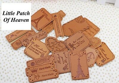PU Leather Embossed Sewing Labels for Handmade Items, sewing/decoration/craft