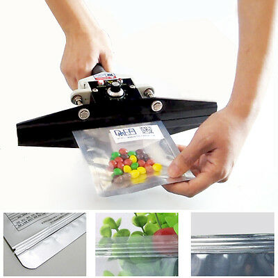 110V 300W Portable Handheld Sealing Machine Aluminium Film Bag Foil Sealer 200mm