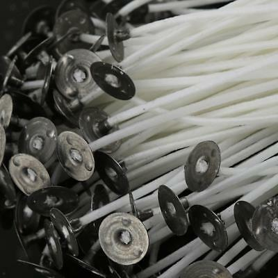 50pcs 20cm Cotton Pre Waxed Wicks for Candle Making with Sustainer