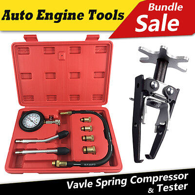 Toolrock Automotive Petrol Engine Compression Tester & Vavle Spring Compressor