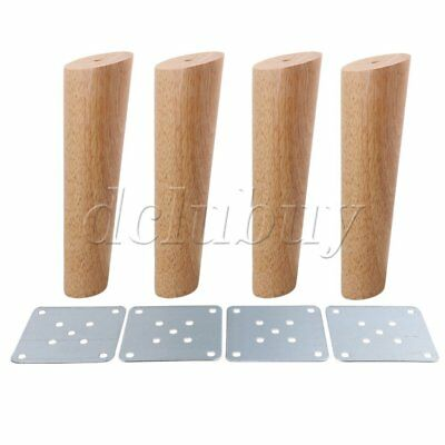 4pcs 20cm Height Wood Oblique Tapered Furniture Feet Tea Table Legs