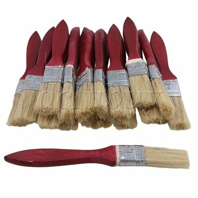 "1"" Paint Brush Chip Brushes Red Wood Shank for Home Painting Pack of 20"