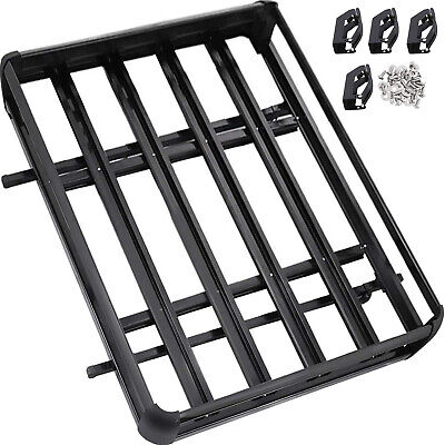 """Universal 63"""" Black Roof Rack Extension Cargo Top Luggage Hold Carrier Basket"""