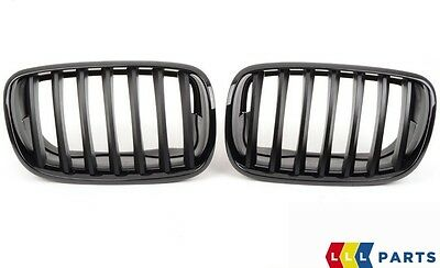 Bmw New Genuine X5 X6 E70 E71 Front Center Kidney Grille Black High Gloss Pair