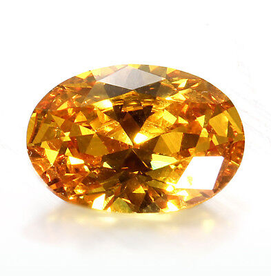 Jewelry Gifts 10 x 14mm Yellow Sapphire Gem Oval Shape Natural Loose Gemstone