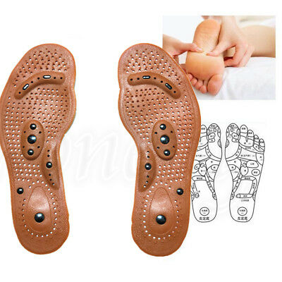 Gel Deodorizing Insoles Magnetic Massage Foot Health Care Pain Relief Therapy